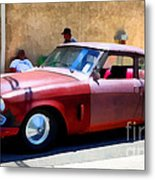 Hanging With My Buddy . 1953 Studebaker .  5d16513 Metal Print by Wingsdomain Art and Photography