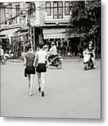Hanoi Girls Metal Print