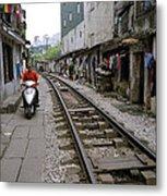 Hanoi Train Tracks Metal Print