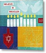 Hanukkah Miracles Metal Print