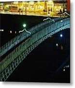 Hapenny Bridge, Dublin City, Co Dublin Metal Print