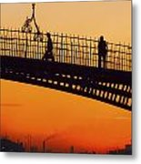 Hapenny Bridge, Dublin, Co Dublin Metal Print