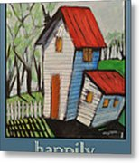 Happily Ever After White Picket Metal Print