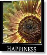 Happiness Peach Sunflower Metal Print