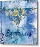 Happy Birthday - Card Design Metal Print