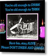 Happy Birthday Card Metal Print