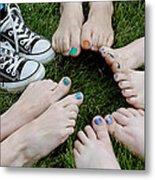 Happy Feet Metal Print