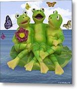 Happy Frogs Metal Print