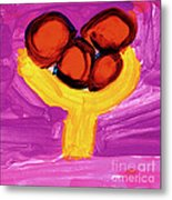 Happy Fruit Metal Print