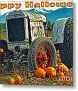 Happy Halloween Card Metal Print
