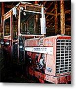 Happy Harvestor Tractor Metal Print