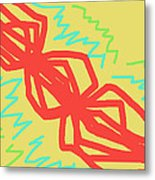 Happy Helix Radiates Energy Metal Print