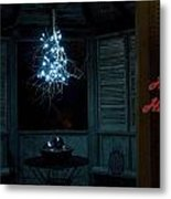Happy Holiday Lights Metal Print