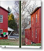 Happy Holidays - Gently Cross Your Eyes And Focus On The Middle Image Metal Print