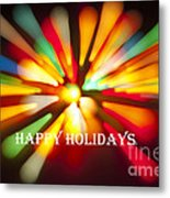 Happy Holidays Card Metal Print