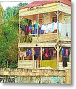 Happy Hour Washday Belize Metal Print