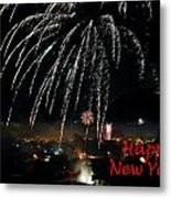 Happy New Year Card Metal Print
