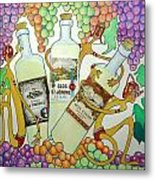 Happy People With Wine Metal Print by Glenn Calloway