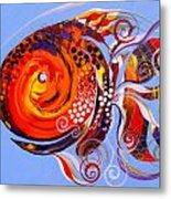 Happy Rainbow Fish Metal Print