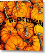 Happy Thanksgiving Art Metal Print