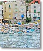 Harbor At Isle Of Capri Metal Print