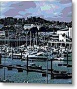 Harbor At Torquay Metal Print