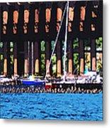 Harbor Docks Metal Print