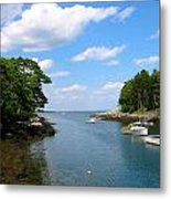 Harbor Home Maine Metal Print