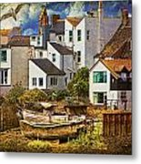 Harbor Houses Metal Print