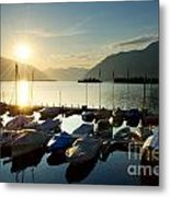Harbor In Sunrise Metal Print
