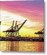 Harbor Island Sunrise Metal Print