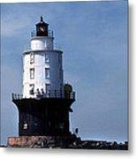Harbor Of Refuge Lighthouse Metal Print