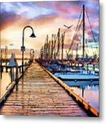 Harbor Town Metal Print