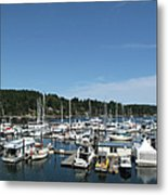 Harbour And Boats Metal Print