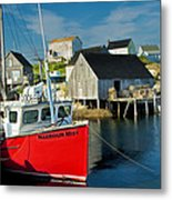 Harbour Mist In Peggy's Cove No 103 Metal Print