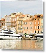 Harbour, St. Tropez, Cote D'azur, France Metal Print