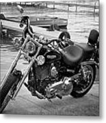Harley Black And White Metal Print by Dean Bennett