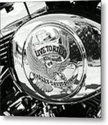 Harley Davidson Bike - Chrome Parts 22 Metal Print
