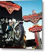 Harley Davidson Cafe Las Vegas Metal Print