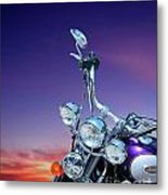 Harley Sunset Metal Print
