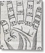 Harmonious Hand, 17th Century Artwork Metal Print by Middle Temple Library