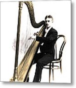 Harp Player Metal Print