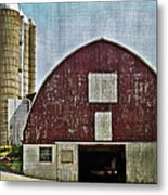 Harvest Barn Metal Print by Kathy Jennings