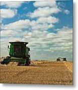 Harvest On The Canadian Prairies Metal Print