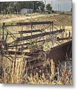 Harvester Sweep Wheel 1 Metal Print