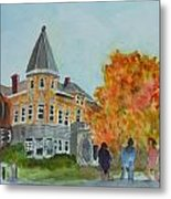 Haskell Free Library In Autumn Metal Print