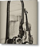 Hat And Fiddle Metal Print