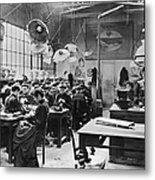 Hat Factory, C1900 Metal Print