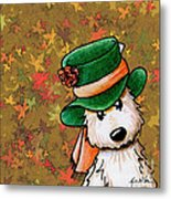 Hat Season Cairn Terrier Metal Print