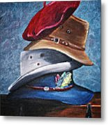 Hat Stack Metal Print